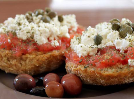 Simple Greek Recipes   to Try: Dakos